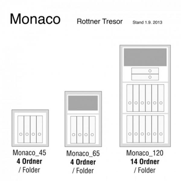 Seif certificat antiefractie Monaco 120 inchidere cheie 8