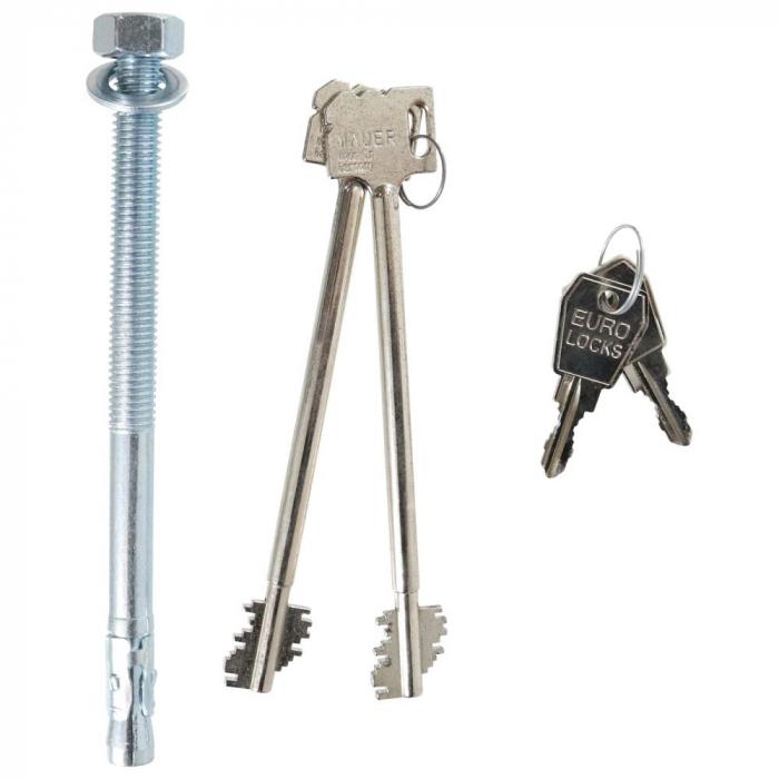 Seif certificat antiefractie antifoc Opal Fire Premium OPD 120 inchidere cheie [5]