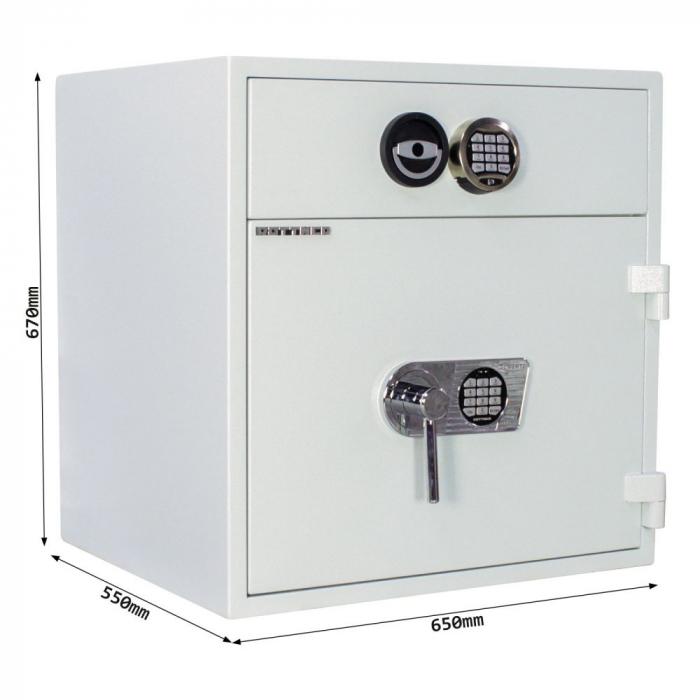 Seif certificat antiefractie cu sertar de alimentare RSR 1/67 inchidere electronica [4]