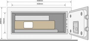 Seif pentru laptop YLV 200 DB1 inchidere electronica1