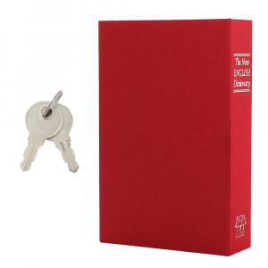 Caseta valori Bookcase rosu inchidere cheie6