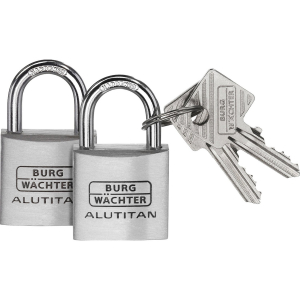 Set 2 lacate aluminiu Alutitan DUO 770 40 SB inchidere cheie0