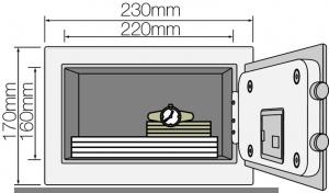 Seif YSV 170 DB1 B inchidere electronica1