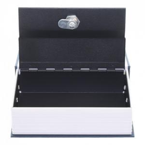 Caseta valori Bookcase albastru inchidere cheie2
