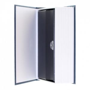 Caseta valori Bookcase albastru inchidere cheie4