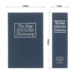 Caseta valori Bookcase albastru inchidere cheie6