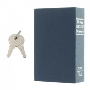 Caseta valori Bookcase albastru inchidere cheie5