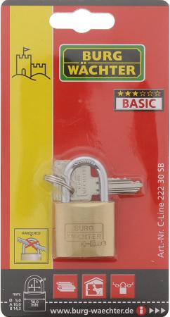 Lacat alama C-Line 222 C 30 SB inchidere cheie [5]