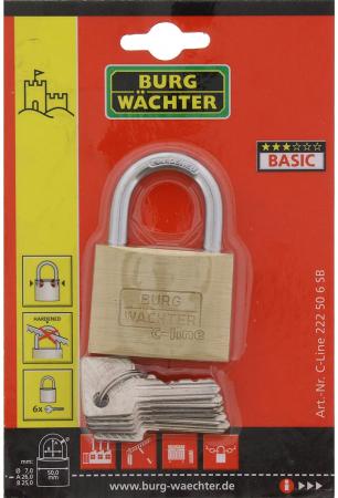 Lacat alama C-Line 222 C 50 6 SB inchidere cheie [6]