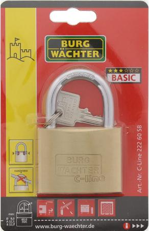 Lacat alama C-Line 222 C 60 SB inchidere cheie [6]