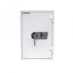 Seif certificat antiefractie antifoc Atlas 65 alb inchidere cheie [1]