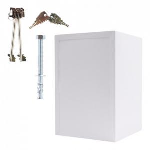 Seif certificat antiefractie antifoc Atlas 65 alb inchidere cheie [6]