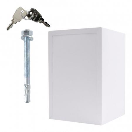 Seif certificat antiefractie antifoc Atlas 65 alb inchidere electronica [2]