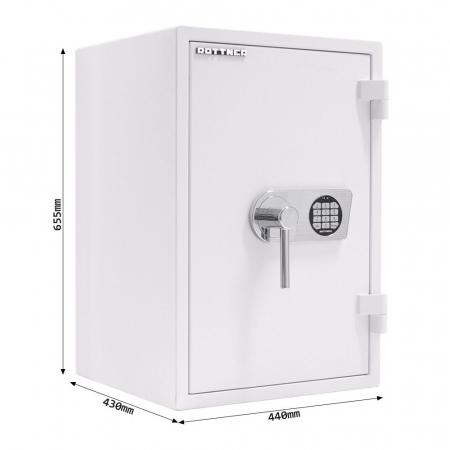 Seif certificat antiefractie antifoc Atlas 65 alb inchidere electronica [10]