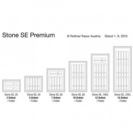 Seif certificat antiefractie incastrabil in perete Stone SE 45 inchidere cheie [6]
