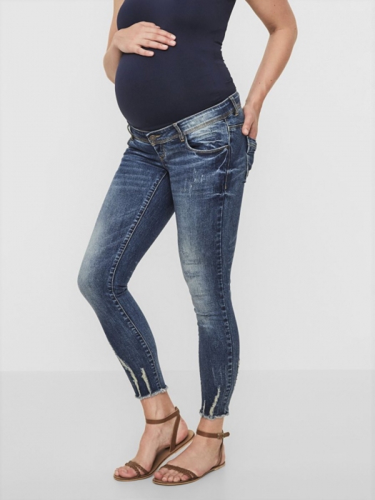 Blugi ankle slim pentru gravide Mamalicious Sienna 2