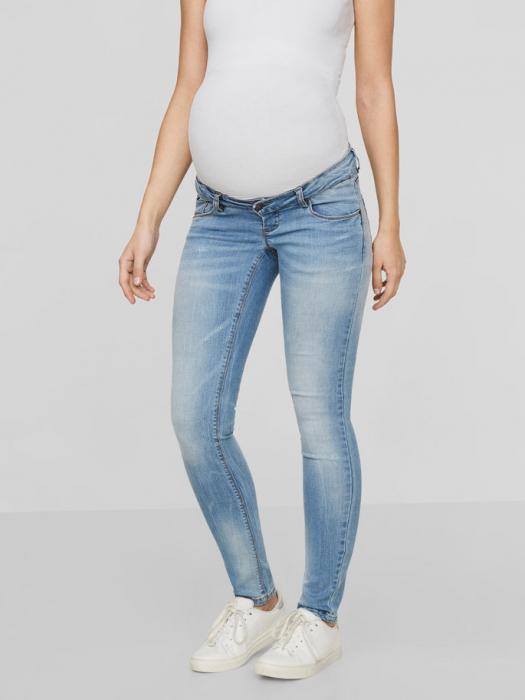 Blugi gravide prespălați Mamalicious Birdie Slim 1