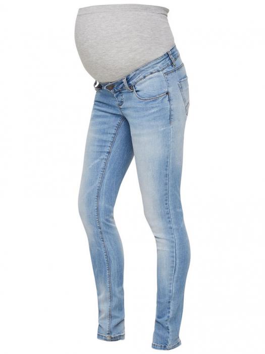 Blugi gravide prespălați Mamalicious Birdie Slim 3