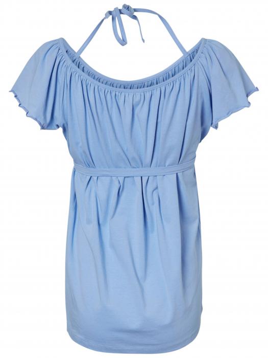 Bluză pentru gravide cu umeri căzuți din bumbac organic Mamalicious Phie 2