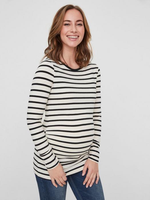 Bluză pentru gravide din bumbac organic ML Alabama 0