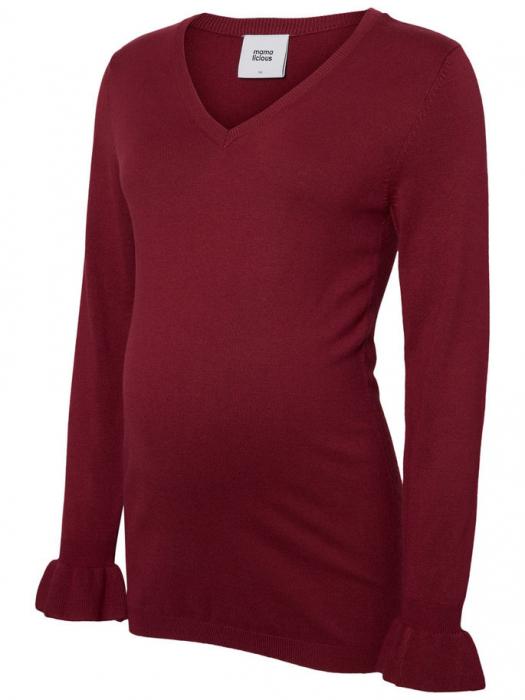 Bluză pentru gravide Mamalicious Zolanda Red Plum 3