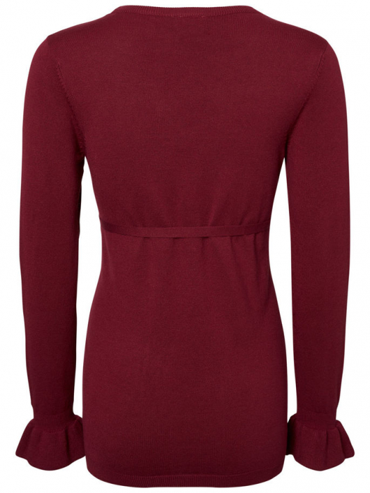 Bluză pentru gravide Mamalicious Zolanda Red Plum 2