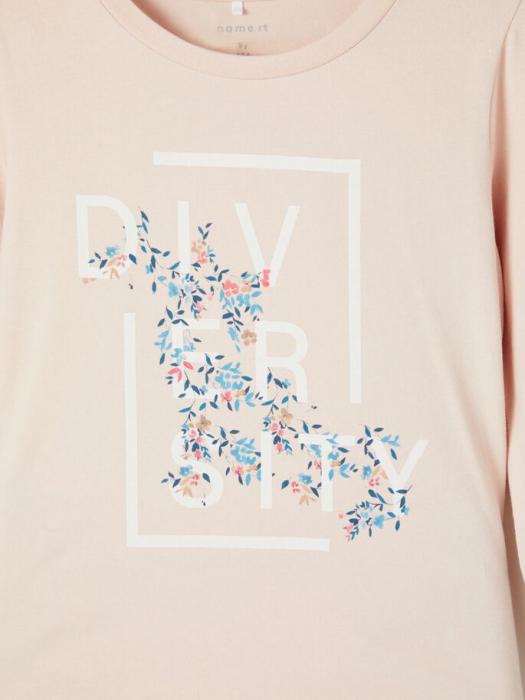 Bluza copii, bumbac organic, fete - Name It Tassi Pink 2
