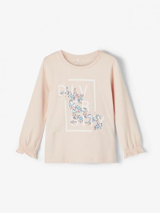 Bluza copii, bumbac organic, fete - Name It Tassi Pink 0