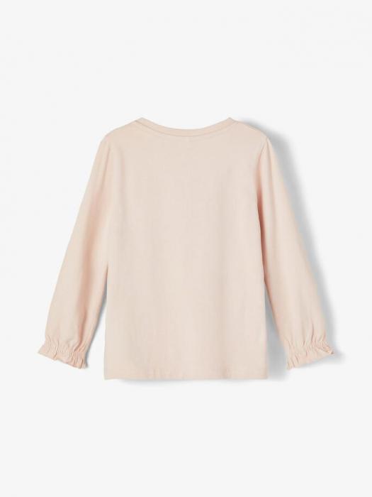 Bluza copii, bumbac organic, fete - Name It Tassi Pink 1