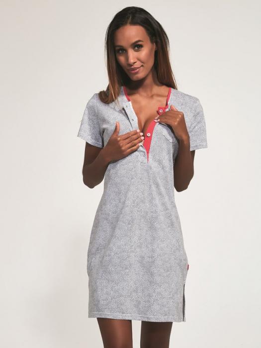 Camasa de noapte pentru gravide si alaptare Ellie 0