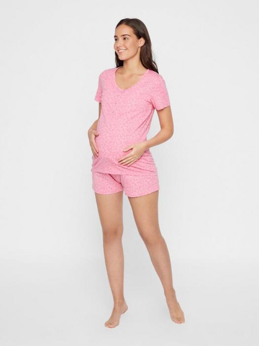 Pijama gravide si alaptare din bumbac organic Mamalicious Leopard 2