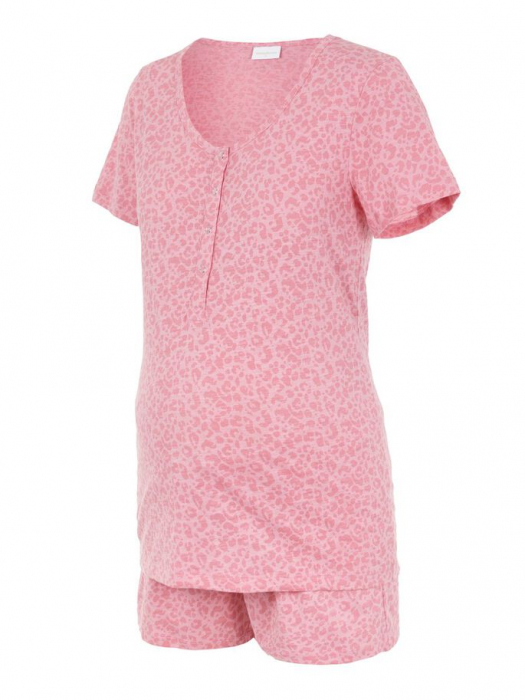Pijama gravide si alaptare din bumbac organic Mamalicious Leopard 5