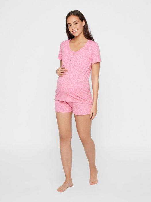 Pijama gravide si alaptare din bumbac organic Mamalicious Leopard 0
