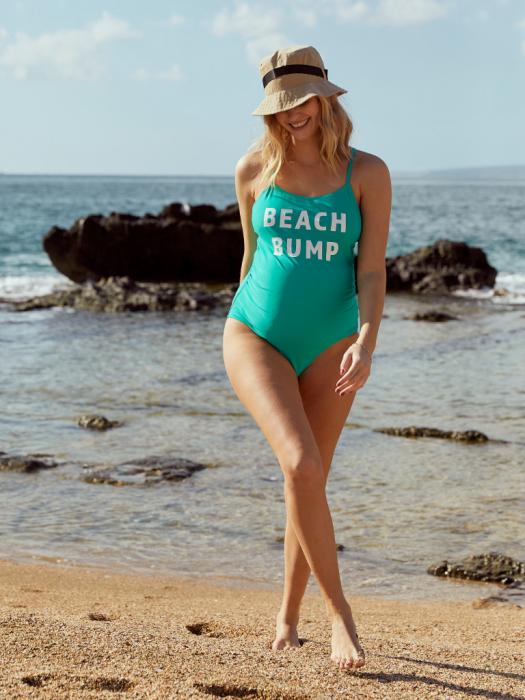 Costum baie gravide cu imprimeu Mamalicious Beach Bump 1