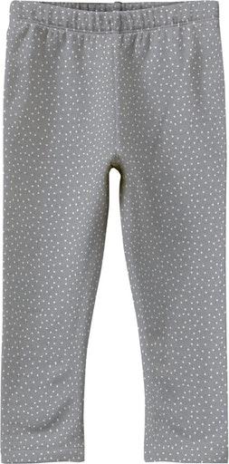 Leggings, bumbac organic, fete - Name It Davina Grey 0