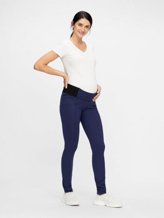 Leggings gravide cu insertii elastice laterale - Mamalicious Reyna 2