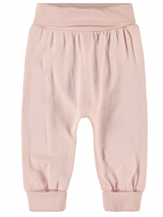 Pantaloni bebelusi, bumbac organic, fete – Name It Nata Peachskin 0