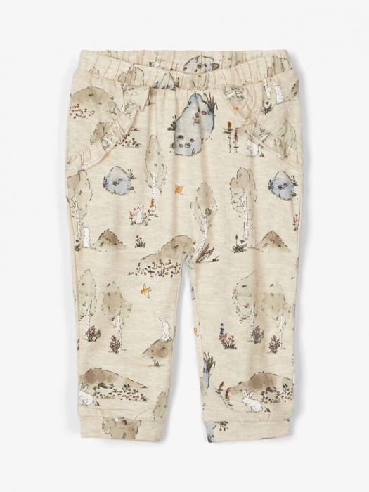 pantaloni-bebelusi-bumbac-organic-fete-name-it-tanja-oatmeal 0