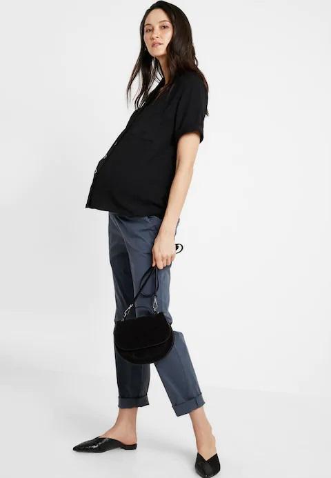 Pantaloni chino pentru gravide Mamalicious Playa 4