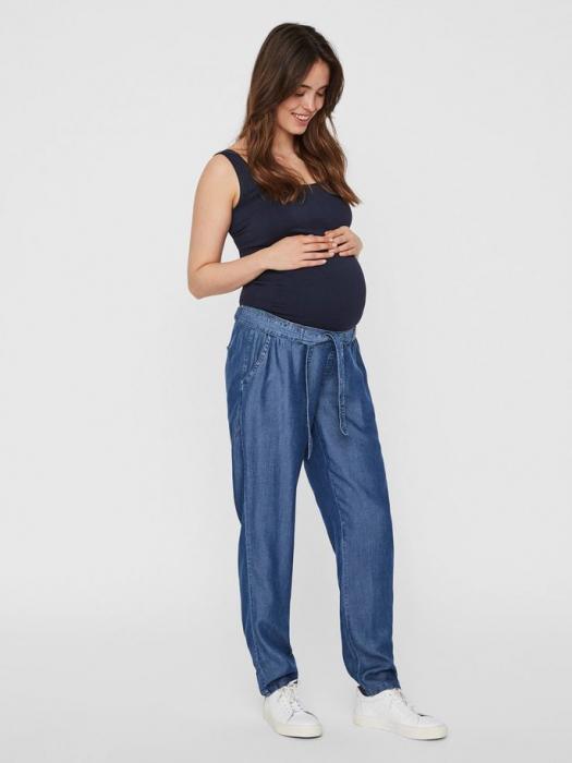 Pantaloni gravide din chambray Mamalicious Lydia 0