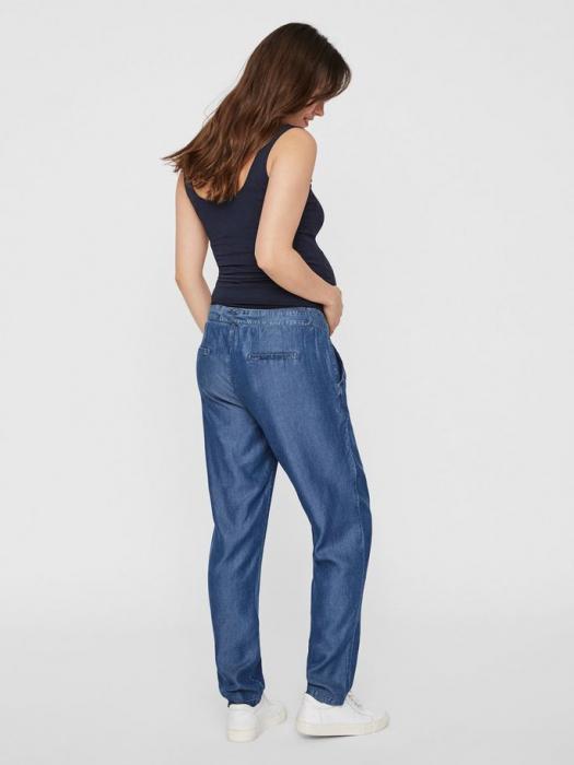 Pantaloni gravide din chambray Mamalicious Lydia 1