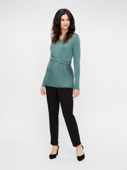 pantaloni-office-gravide-mamalicious-cerise 1