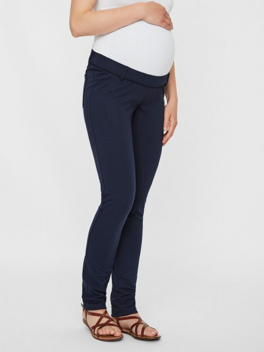 Pantaloni pentru gravide Mamalicious Alba
