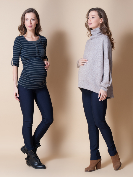Pantaloni pentru gravide Mamalicious Alba 0