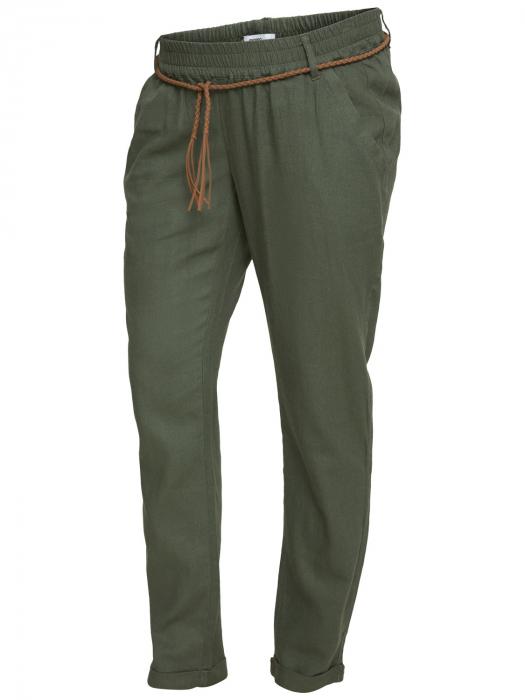 Pantaloni pentru gravide Mamalicious Beach din in - verde 4