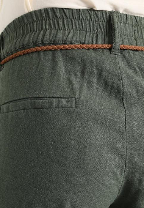 Pantaloni pentru gravide Mamalicious Beach din in - verde 3