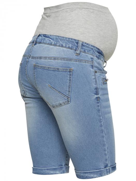 Pantaloni scurți de blugi pentru gravide Mamalicious Friday 4