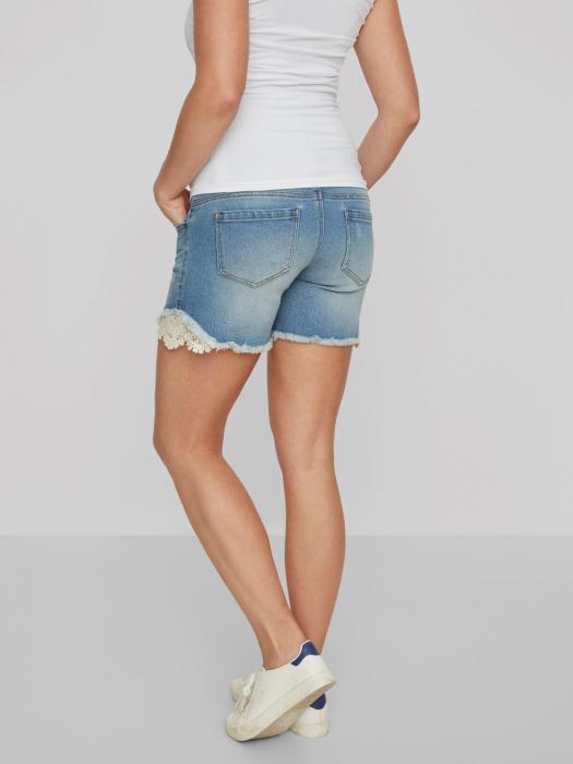 Pantaloni scurți de blugi pentru gravide Mamalicious Casis [1]