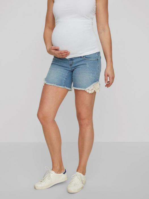 Pantaloni scurți de blugi pentru gravide Mamalicious Casis [0]