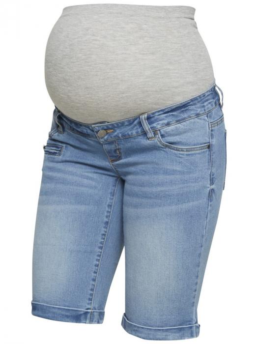 Pantaloni scurți de blugi pentru gravide Mamalicious Friday 3